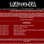 Bereits 1999 gab es die erste Paludia-Seite, leider gibt es davon keine Screenshots. So sah die Webseite von 2001 bis 2004 aus.